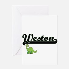 Weston Classic Name Design with Din Greeting Cards