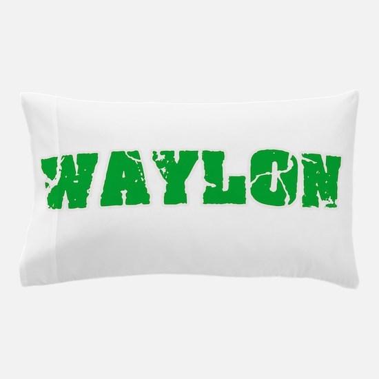 Waylon Name Weathered Green Design Pillow Case
