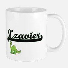 Xzavier Classic Name Design with Dinosa Mugs