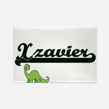 Xzavier Classic Name Design with Dinosaur Magnets
