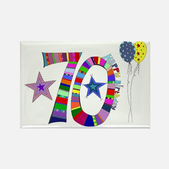 70th Birthday Rectangle Magnet