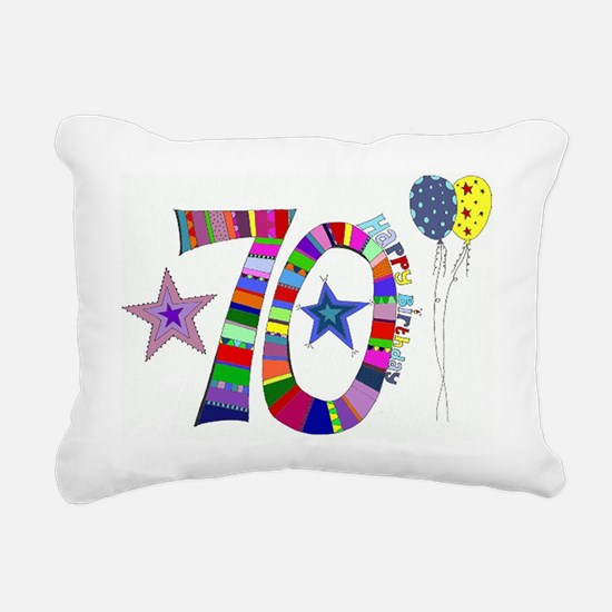 70th Birthday Rectangular Canvas Pillow