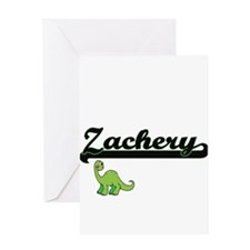 Zachery Classic Name Design with Di Greeting Cards
