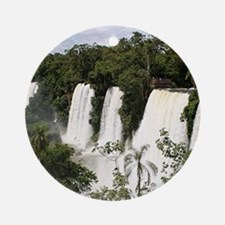 Iguazu Falls, Argentina, South Amer Round Ornament