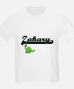 Zakary Classic Name Design with Dinosaur T-Shirt