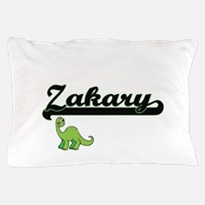 Zakary Classic Name Design with Dinosa Pillow Case