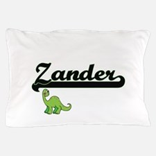 Zander Classic Name Design with Dinosa Pillow Case