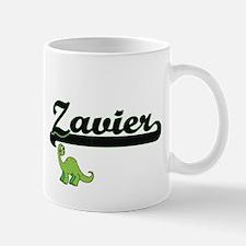 Zavier Classic Name Design with Dinosaur Mugs