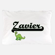 Zavier Classic Name Design with Dinosa Pillow Case