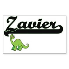 Zavier Classic Name Design with Dinosaur Decal