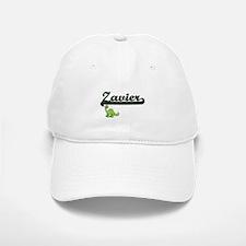 Zavier Classic Name Design with Dinosaur Baseball Baseball Cap