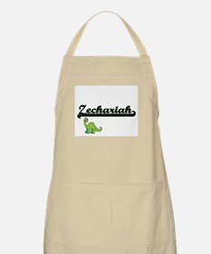 Zechariah Classic Name Design with Dinosaur Apron