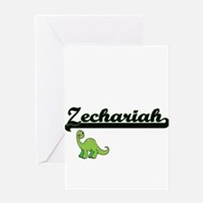 Zechariah Classic Name Design with Greeting Cards