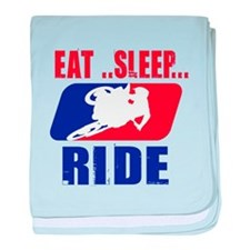 Eat sleep ride 2013 baby blanket