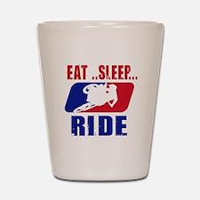 Eat sleep ride 2013 Shot Glass