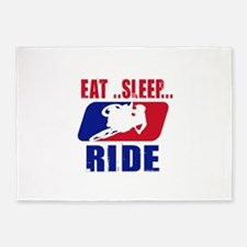 Eat sleep ride 2013 5'x7'Area Rug
