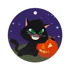 Bad Kitty Ornament (Round)