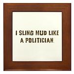 Mud Slinger Off road gifts Framed Tile