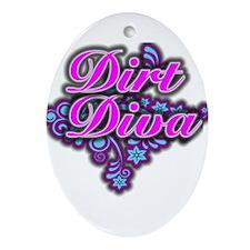 Dirt Diva FL Oval Ornament