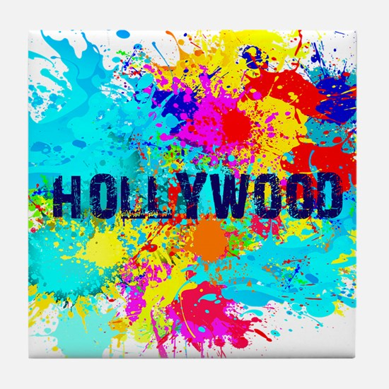 HOLLYWOOD BURST Tile Coaster