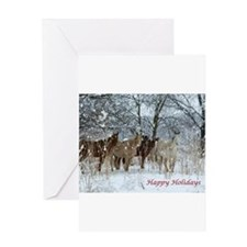 Unique Christmas horse Greeting Card