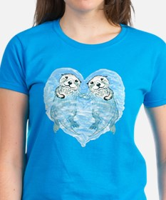 sea otters holding hands Tee
