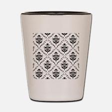 Traditional Black Damask Shot Glass