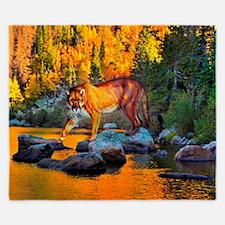 Autumn Cougar King Duvet