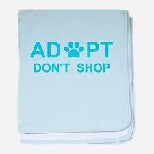 Pet adoption baby blanket
