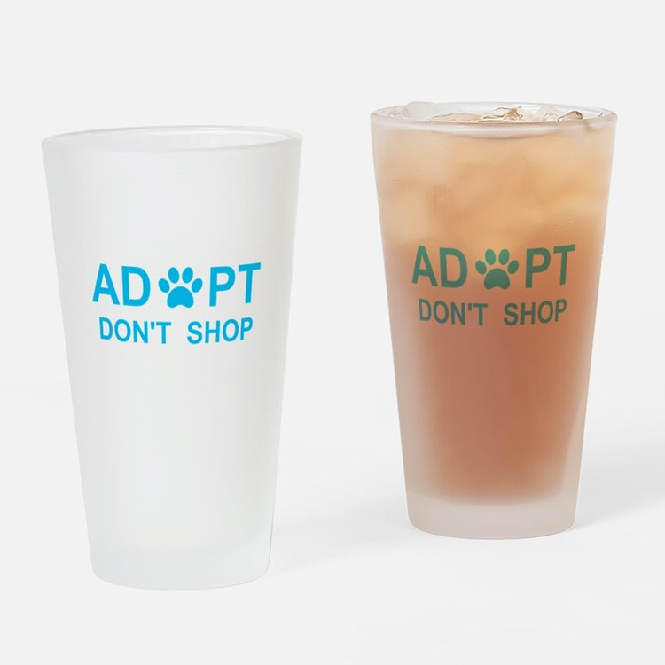 Cute Adopt dont shop Drinking Glass