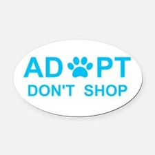 Unique Adopt an animal Oval Car Magnet