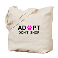 Cool Adopt dont shop Tote Bag