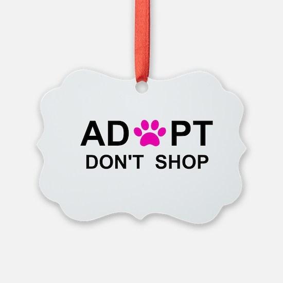 Funny Dog adoption Ornament