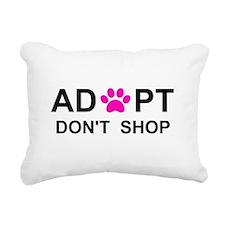 Cute Save a life adopt a pet adoption animal rescue Rectangular Canvas Pillow