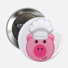 """Chef Pig BBQ Farm Cook 2.25"""" Button (10 pack)"""