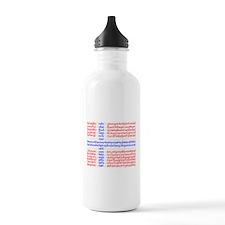 Norwegian Cities Flag Water Bottle