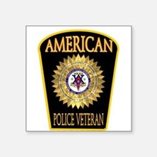 "Unique Retired law enforcement Square Sticker 3"" x 3"""