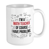 Math teacher Large Mugs (15 oz)