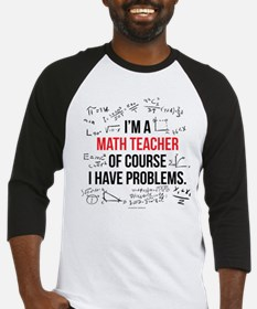 Math Teacher Problems Baseball Jersey