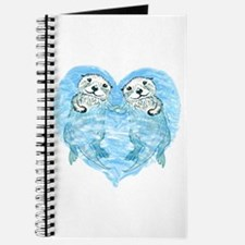 sea otters holding hands Journal