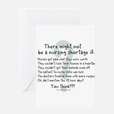 Cool Nurse sayings Greeting Card