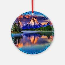 Grand Teton National Park Round Ornament