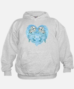 sea otters holding hands Hoodie