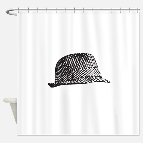 Houndstooth Middle Png Shower Curtain