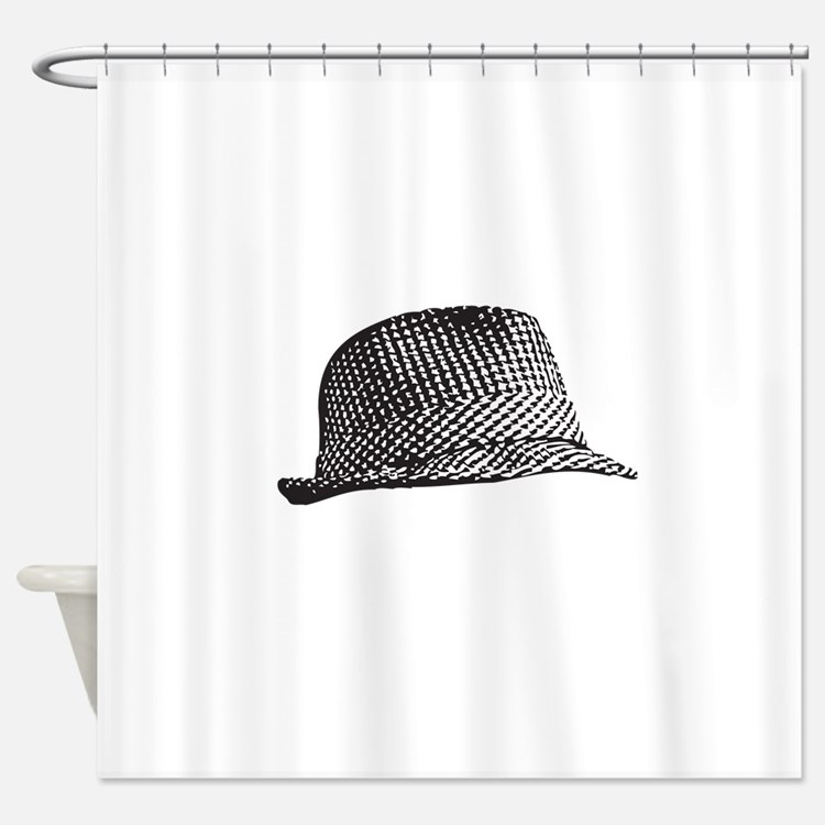 Houndstooth_Middle.png Shower Curtain