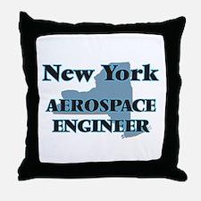 New York Aerospace Engineer Throw Pillow