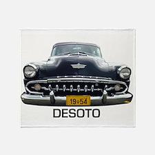 Desoto 1954 car Throw Blanket