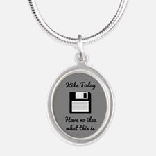 Funny Floppy Disk Necklaces