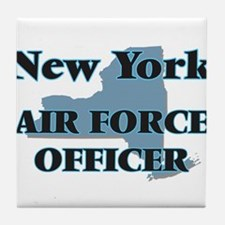 New York Air Force Officer Tile Coaster