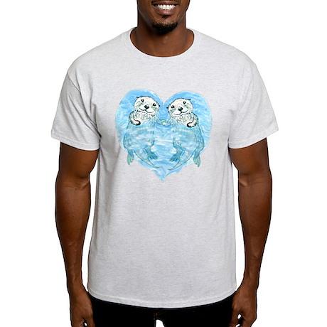 sea otters holding hands Light T-Shirt